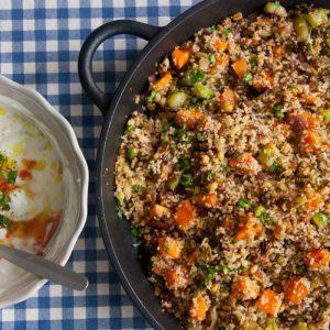 הבלוג של לייזה פאנלים | יומן מטבח קטן של עקרת בית גדולה | נבטוג'דרה-מג'דרה מטרפת מקוסקוס מלא ונבטוטים 1