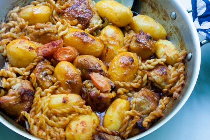 הבלוג של לייזה פאנלים | יומן מטבח קטן של עקרת בית גדולה | סיר של עוף עם תפוחי אדמה ומקרוני. 1