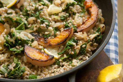 הבלוג של לייזה פאנלים | יומן מטבח קטן של עקרת בית גדולה | סלט קל של גריסים, מנגולד ודלורית לדיאטה 1