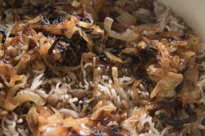 הבלוג של לייזה פאנלים | יומן מטבח קטן של עקרת בית גדולה | אורז עם עדשים - מג'דרה 1