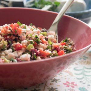 הבלוג של לייזה פאנלים | יומן מטבח קטן של עקרת בית גדולה | סלט קינואה צמחונישי 3