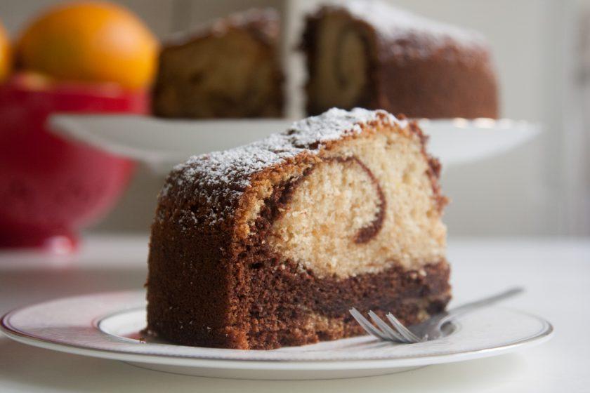 הבלוג של לייזה פאנלים | יומן מטבח קטן של עקרת בית גדולה | עוגת שיש תפוז
