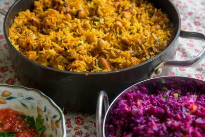 אורז עם פרגיות הכל בסיר