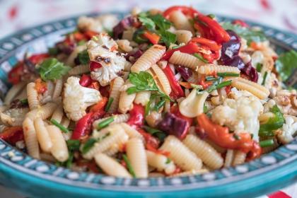 פסטה עם ירקות צלויים