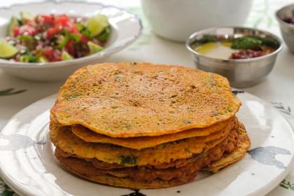 פנקייק הודי טבעונישי פיקנטי הכי טעים